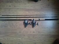 12ft rod and 2 reels
