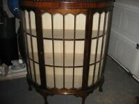Glass fronted china cabinet