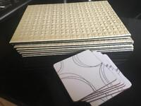 Place mats and coaster set