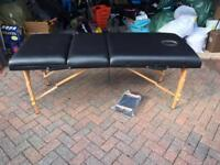 Black Massage table/bed