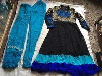 Indian Pakistani ladies long dress suit 3 items size 14 Used good condition used £6