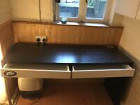 Black and white Ikea desk