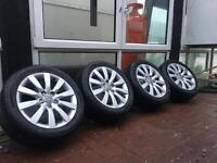 Genuine 17inch Audi A4 Alloys and Tyres