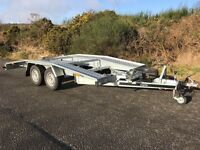 New recovery trailer, car transporter, winch, ramps, spare wheel, wheel chocks.