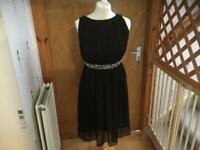 BEAUTIFUL black and sequinned dress size 10 by SOUTH in IMMACULATE CLEAN CONDITION REDUCED THANKS 🙏