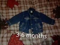 Baby denim jacket 3-6 months