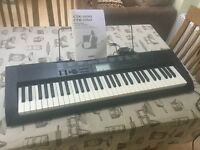 Casio CTK 1150 keyboard with stand (& optional piano books)