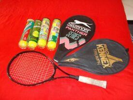 Slazenger panther ultra slim aluminium tennis racquet plus tennis balls £15