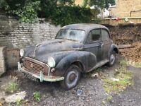 Barn Find Splity Morris Minor 1956 been hiding since 1979
