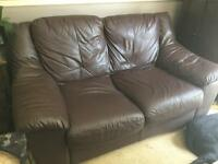 Two seater and three seater sofa available for immediate collection
