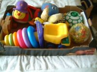 Box of Young Children's toys, all in clean condition. Hours of fun to be had. 7 toys in