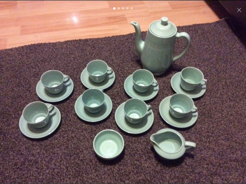 Vintage Wood Ware Beryl coffee set