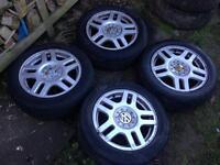 Volkswagen Golf MK4 GTi Alloy Wheels 5x100 Polo Fabia BORA Leon