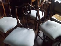 6 wide Victorian style dining chairs