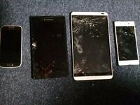 2 phones 2 tablets spares