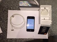 iphone4 16gb on EE well looked after. original box, instructions, cable n plug. No earphones