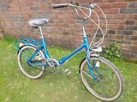 Vintage cinza folding bike