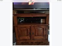 Indian pine TV stand
