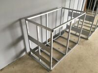 Galvanised frames to fit baffled tanks for window cleaning or mobile valeting