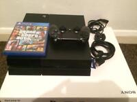 PS4 500GB with controller and grand theft auto 5