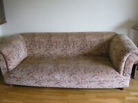 Elegant Chesterfield sofa in Tapestry finish for sale.