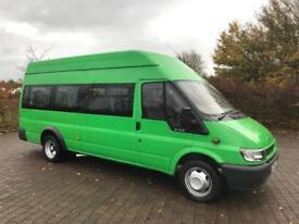 2005 Ford Transit 2.4 TDCi 17 SEAT MINIBUS, 59,000 MILES, NEW MOT, NO VAT (Camper Conversion)