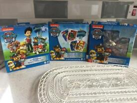 Paw Patrol Games (3) £3 + postage if not collecting