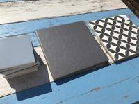 Selection of floor and wall tiles