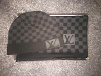 Louis Vuitton hat & scarf set