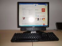 Dell Dimension C521 Desktop, complete set up, with screen, keyboard, mouse and speakers. Windows 7