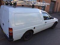 Ford escort 55 1.8d van ex bt great runner body work needs tlc has mot been hand painted please read