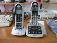 BT 4500 Big Button Phones x 2 and answering machine