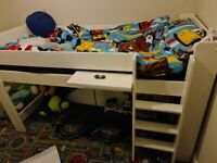 Mid sleeper bunk bed with storage