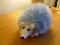 Hand knitted Tinsel toy hedgehogs
