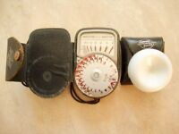 Weston Euro-Master Light Meter with Case, Strap and Invacone in Case