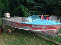 1961 Princecraft with matching 40hp and trailer