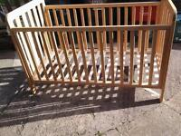 Mothercare cot bed pine
