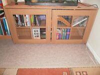 Pine effect TV (dvd/)cabinet