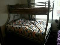 Metal double bed and mattress for sale in the verry good condition.