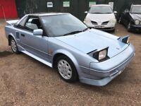 Toyota MR2 1587cc Petrol 5 speed manual 2 door coupe G reg 18/12/1989 Blue