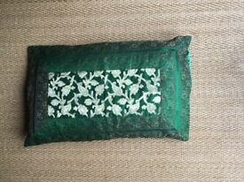 UNIQUE, EMBROIDERED INDIAN PILLOW CASE AND PILLOW