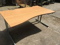 Quality office desk in beech finish. Ex-Government stock.