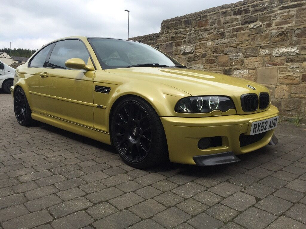BMW m3 e46 modified coupe Phoenix yellow 3 series SMG m4 ...