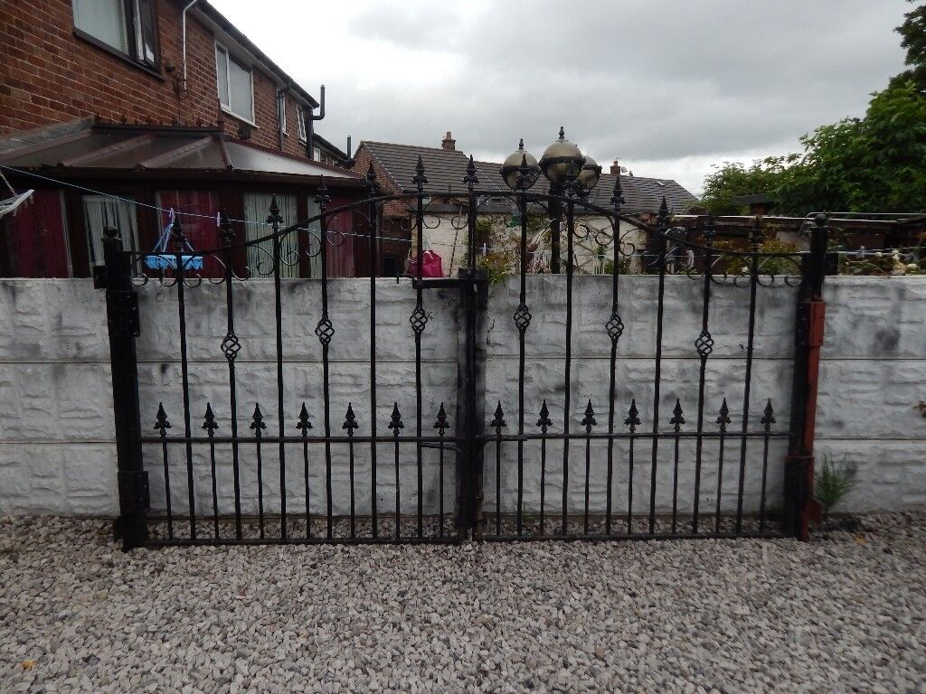 Wrought Iron Gates Driveway Garden Metal Steel