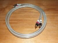 Shielded Interconnects RCA Stereo Hifi 1.5m length