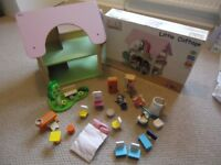 Wooden Dolls house and complete furniture set - Tidlo Little Cottage