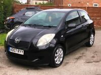 2007 TOYOTA YARIS 1.3 ZINC 3DR, 91,000 MILES, AIR CON, NEW CLUTCH, ALLOYS, IDEAL FOR NEW DRIVER