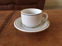 Espresso cups and saucers x 4.