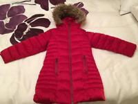 Girls Red Next Winter Coat 6yrs