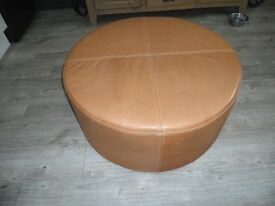 Leather Seat/pouffee/footstool